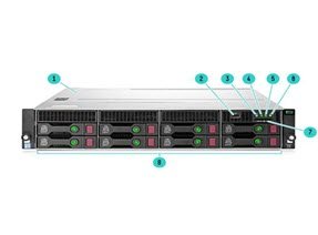 Máy chủ HPE ProLiant DL380 Gen10 S4108 1.8GHz 1P 8C 8GB, 8LFF CTO Server