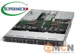 Máy Chủ Supermicro SuperServer System SYS-1029U-E1CRTP2 Rackmout 1U