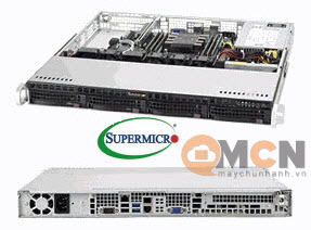 Máy Chủ Supermicro SuperServer System SYS-5019C-M Rackmout 1U