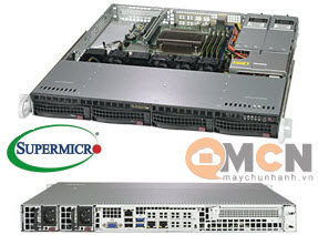 Supermicro SuperServer System SYS-5019C-MR Máy Chủ Rackmout 1U
