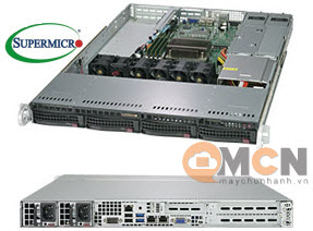 Máy Chủ Supermicro SuperServer System SYS-5019C-WR Rackmout 1U