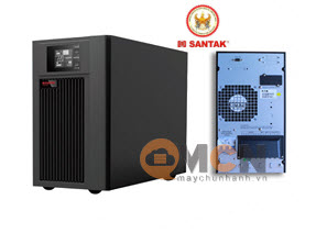 Santak 3C10KS LCD 10kVA/9kW 3 Phase in - 1 Phase out - Tower