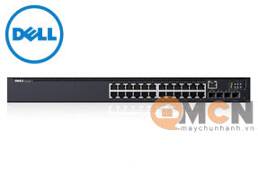 Dell EMC Switch N1524P , PoE+, 24x 1GbE + 4x 10GbE SFP+ 42DEN210-AEVY