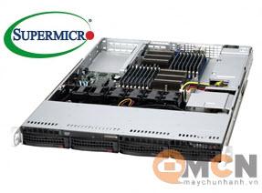 Vỏ case (Cây) máy chủ Supermicro CSE-813MFTQ-R606CB Rack 1U Server