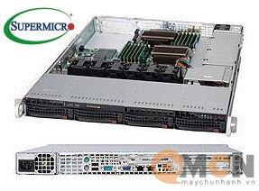 Vỏ case (Cây) máy chủ Supermicro CSE-815TQ-600CB Rack 1U Server