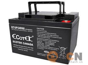 Battery Ecotek 12V 40AH dùng cho Bộ Lưu Điện (UPS)