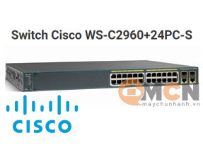 Cisco WS-C2960+24PC-S Catalyst 2960+ 24 10/100 PoE + 2T/SFP LAN Lite