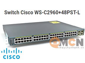 Cisco WS-C2960+48PST-L Catalyst 2960 Plus 48 10/100PoE + 2 1000BT