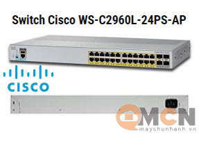 Cisco WS-C2960L-24PS-AP Catalyst 2960L 24 port GE with PoE, 4 x 1G SFP