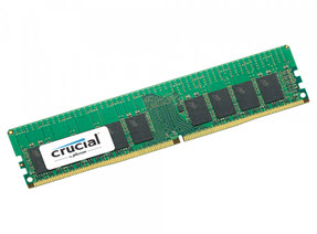 Ram Crucial 16GB DDR4 2666 MT/s (PC4-21300) ECC Unbuffered DIMM