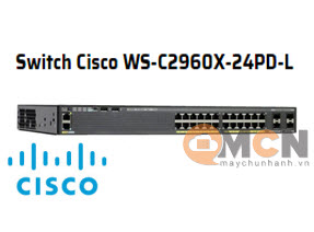Cisco WS-C2960X-24PD-L Catalyst 2960X 24 GigE PoE 370W, 2 x 10G SFP+