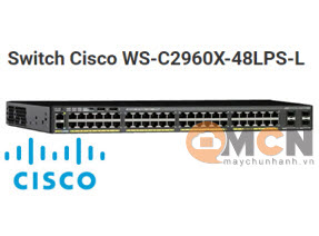 Cisco WS-C2960X-48LPS-L Catalyst 2960X 48 GigE PoE 370W, 4 x 1G SFP