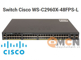 Cisco WS-C2960X-48FPS-L Catalyst 2960X 48 GigE PoE 740W, 4 x 1G SFP