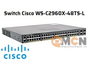 Cisco WS-C2960X-48TS-L Catalyst 2960-X 48 GigE, 4 x 1G SFP, LAN Base