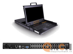 Kinan Remote Access 32 Port CAT5 LCD KVM Over IP Switch 17